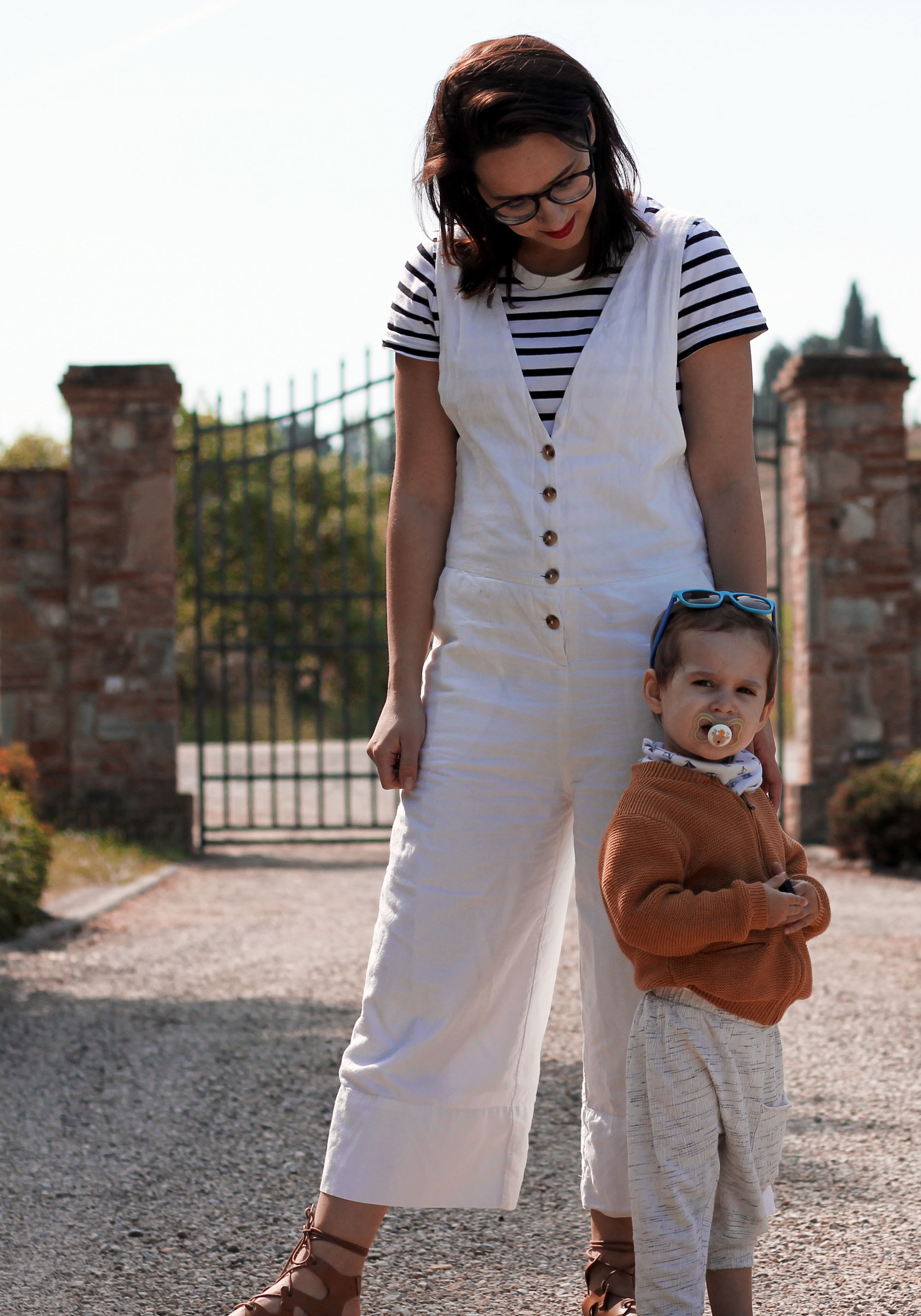 Weißer Overall, Edited Overall, Jumpsuit, Momstyle, Daily Malina