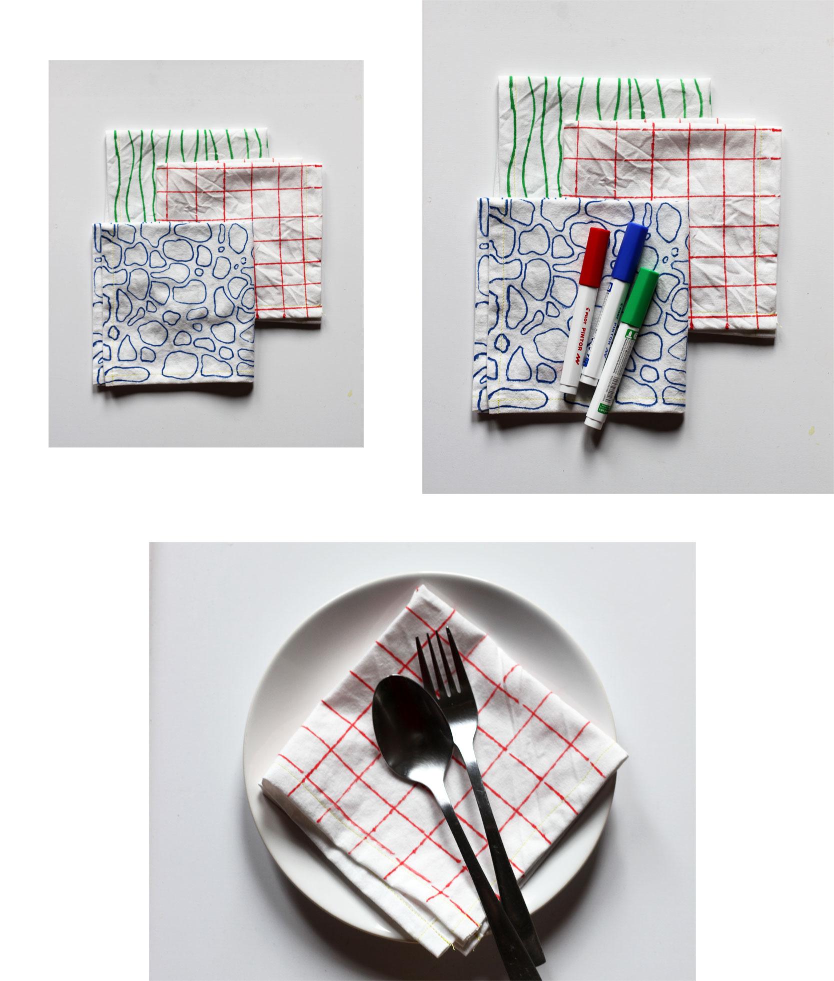 DIY Pilot Pintor Pen | Stoffservietten selbstgemacht